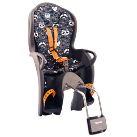 Hamax Kiss Child Seat grey/orange pattern